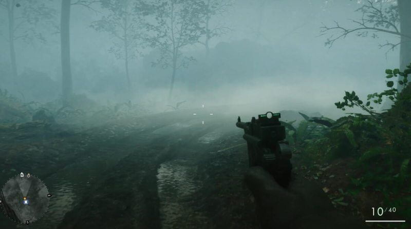 The spooky fog of the Bourlon Forest in Battlefield 1.