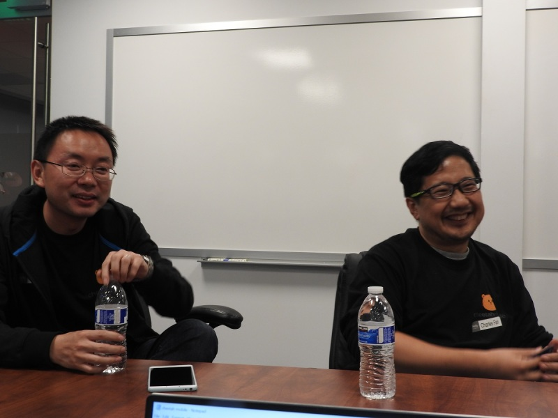 China Mobile's Ming Xu (left), president, and Charles Fan, chief technology officer.