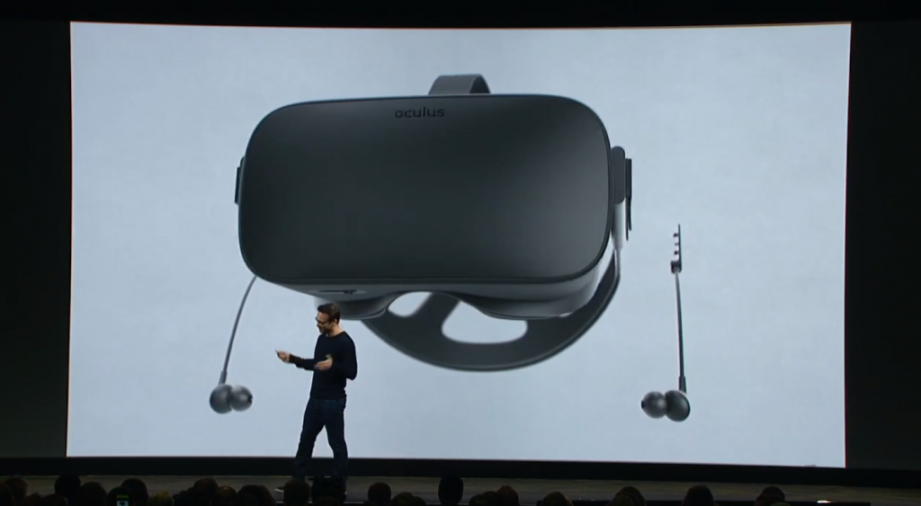 Oculus Earphones create isolated sound for a realistic audio experience.