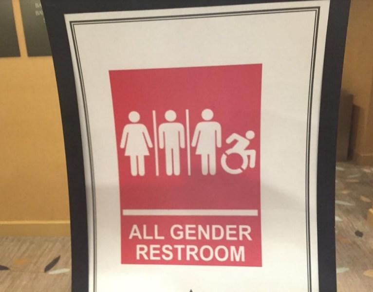 Sign at the GaymerX event in Santa Clara, Calif.
