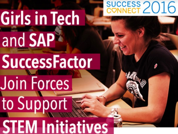 SAP SuccessFactors will supports Girls in Tech with a $1 donation for every tweet in a campaign.