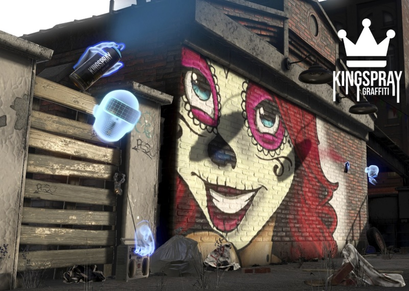 Kingspay is a graffiti game in VR.