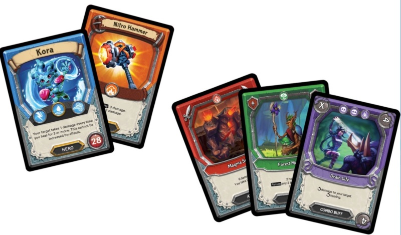 Lightseekers has interactive trading cards.