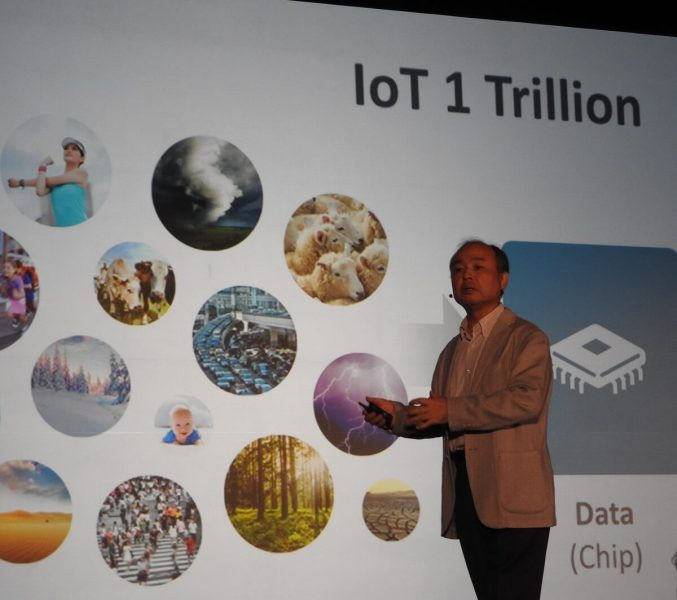 Masayoshi Son envisions 1 trillion Internet of Things devices.