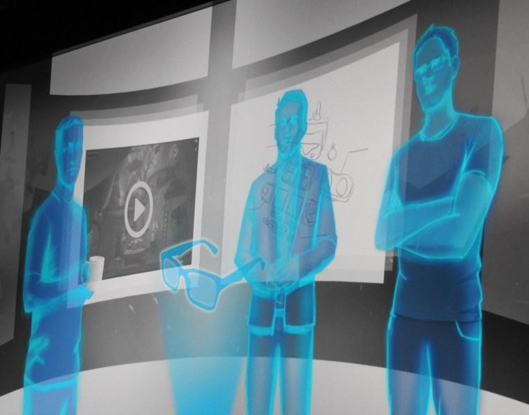Virtual avatars in VR.