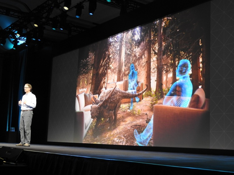 Mike Abrash, chief scientist at Oculus, showing us social VR.