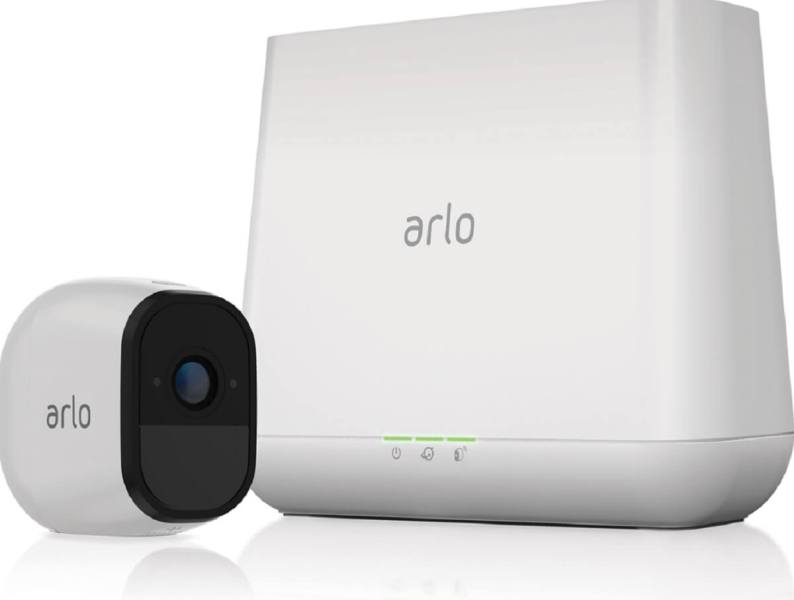 The Arlo Pro has a special basestation that enables the battery in the security camera to last four to six months.