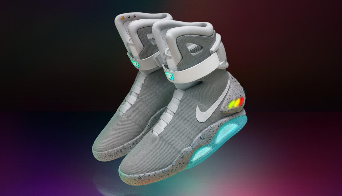 Above: Nike's Mag shoes are based on the self-lacing pair in Back to the Future  II.