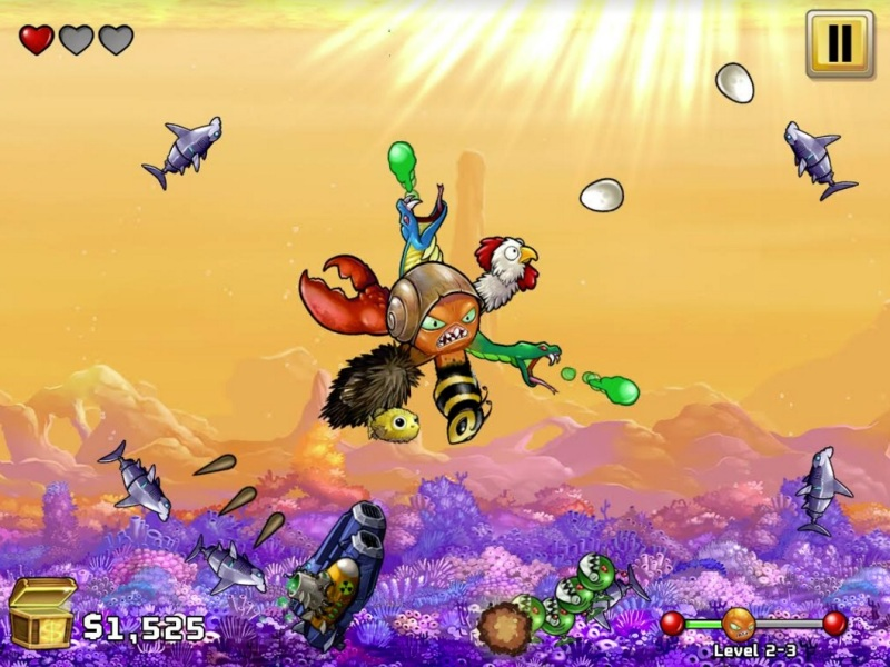 Octogeddon levels up weaponry to destroy the world.