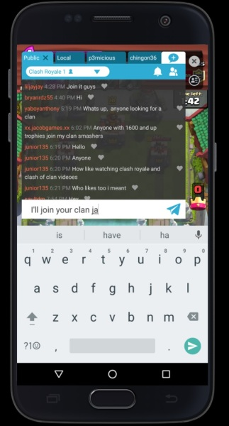 Chat on Omlet Arcade