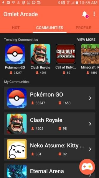 Omlet Arcade creates a community around games like Pokémon Go.
