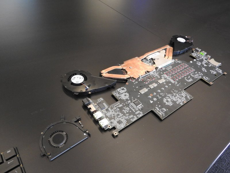 Razer Blade Pro circuit board.