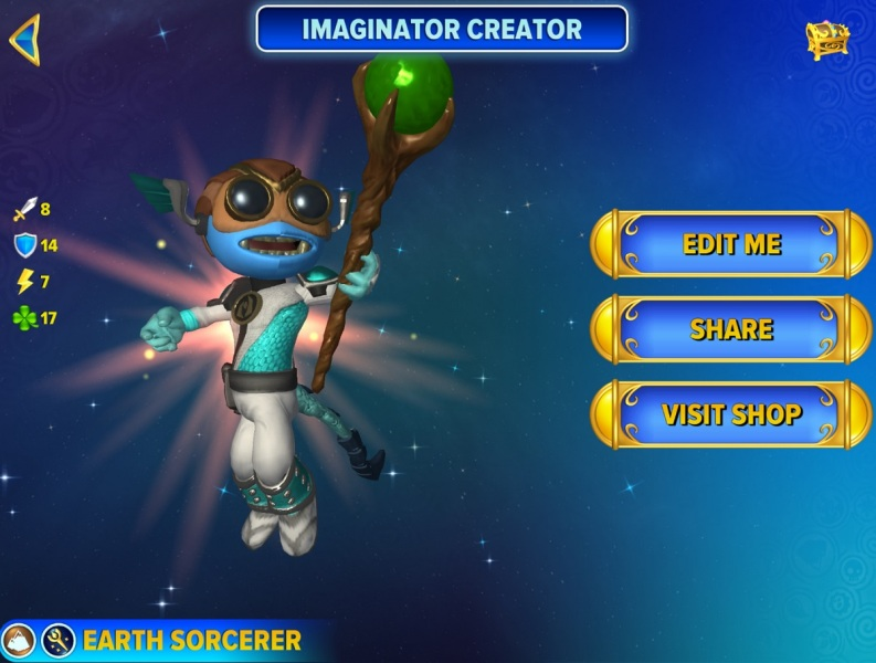 You can use the Skylanders Creator app to make your own character.