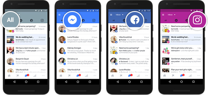 Facebook unified inbox