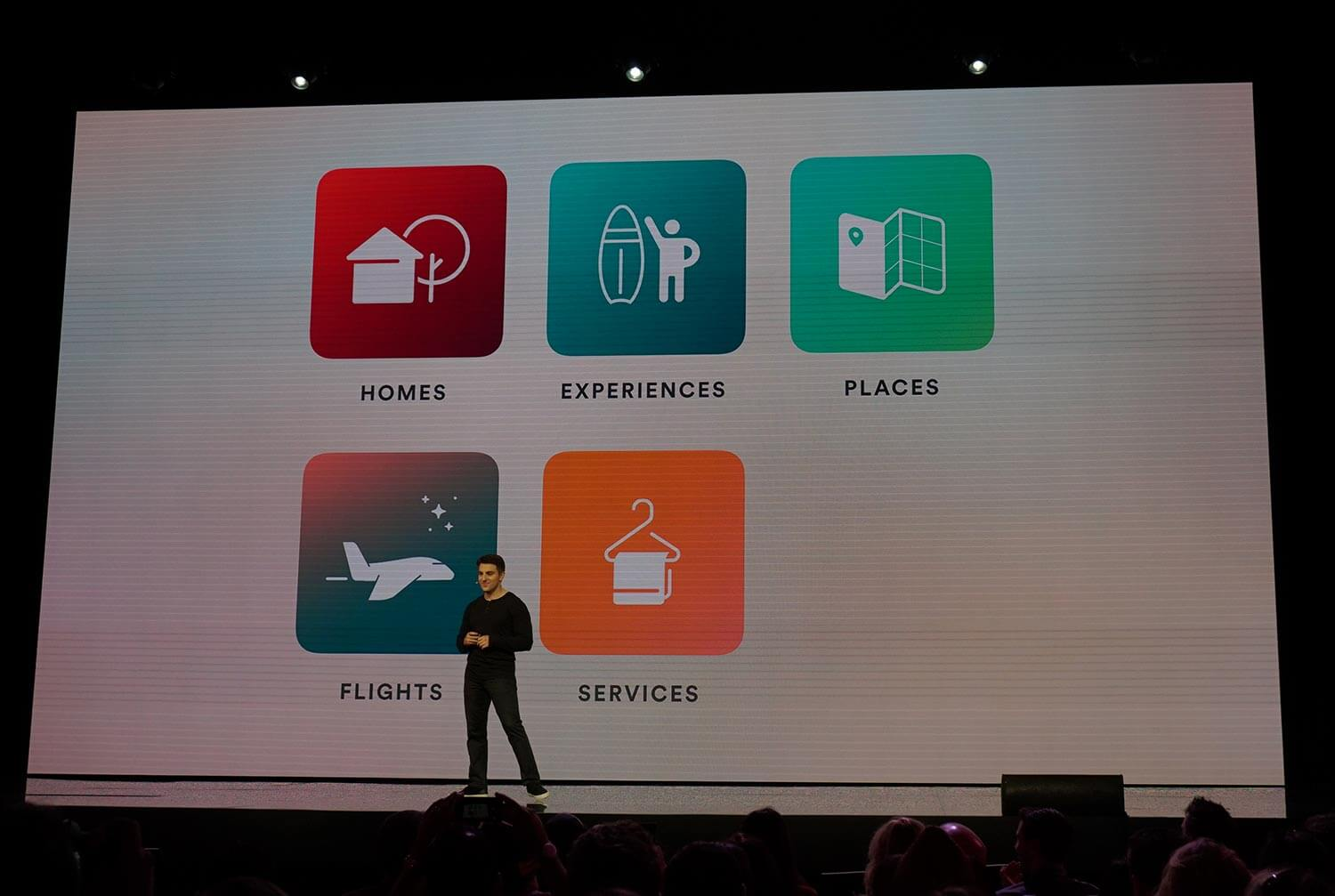 Airbnb chief executive Brian Chesky highlights that the company will soon expand into other trip-related areas, including flights and services.