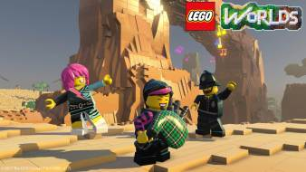 Playing Lego Worlds online together.