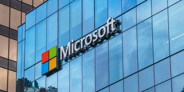 Microsoft office sign.