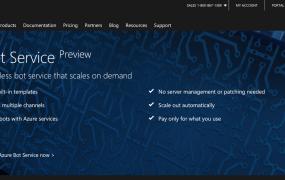 Azure Bot Service website