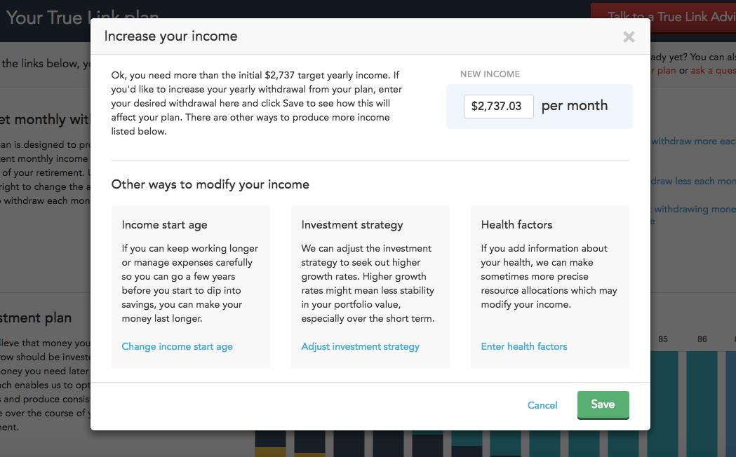 True Link Financial screenshot