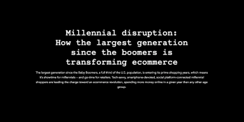 Why the biggest generation in history is your biggest ecommerce opportunity (Infographic)