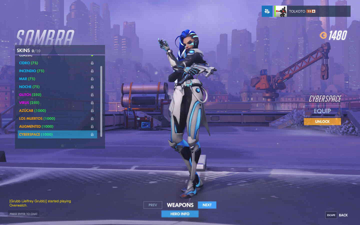 every skin revealed for overwatch�s new character sombra