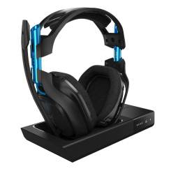 The Astro A50 wireless gaming headset that works with the PC or PlayStation 4.