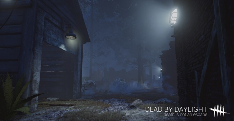 You have to flee a killer in spooky environments in Dead by Daylight.