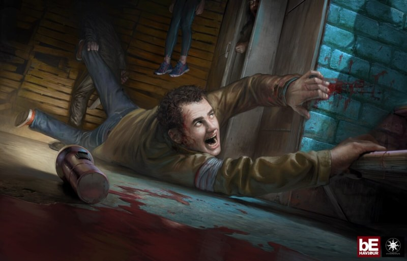 Caught by a killer in Dead by Daylight.