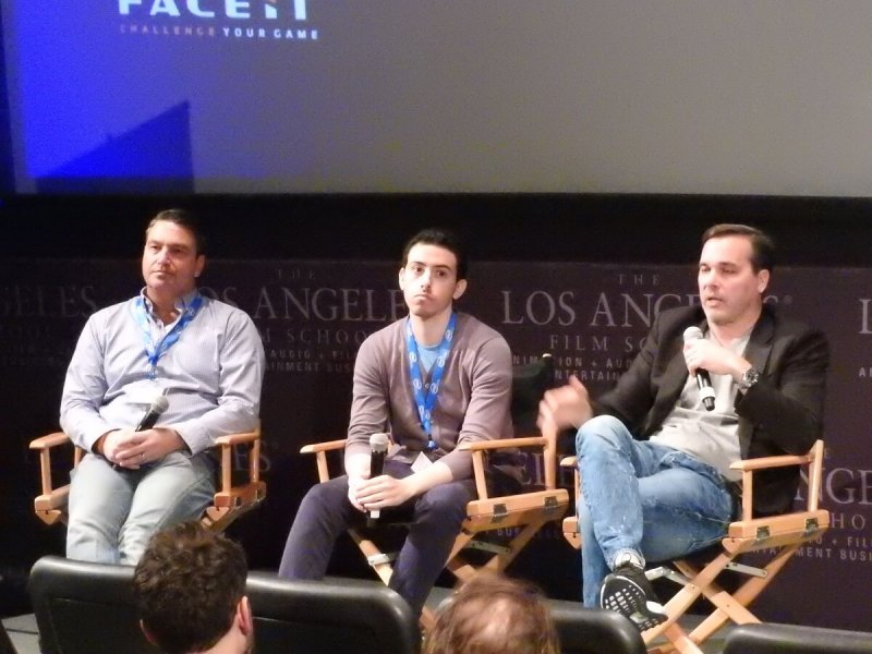 (Left to right) Kurt Pakendorf, chief strategy officer at Faceit; Alex Birns, an investor at Santa Monica, Calif.-based venture firm Anthos Capital; and Craig Barry, executive vice president and chief content officer at Turner Sports.