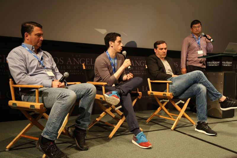 (Left to right) Kurt Pakendorf, chief strategy officer at Faceit; Alex Birns, an investor at Santa Monica, Calif.-based venture firm Anthos Capital; Craig Barry, executive vice president and chief content officer at Turner Sports; and Dean Takahashi of GamesBeat.