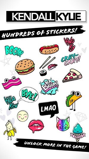 Kendall & Kylie stickers for iMessage chats.