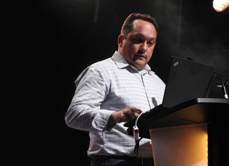 Steve Escalante, general manager of Versus Evil, at MIGS 2016.