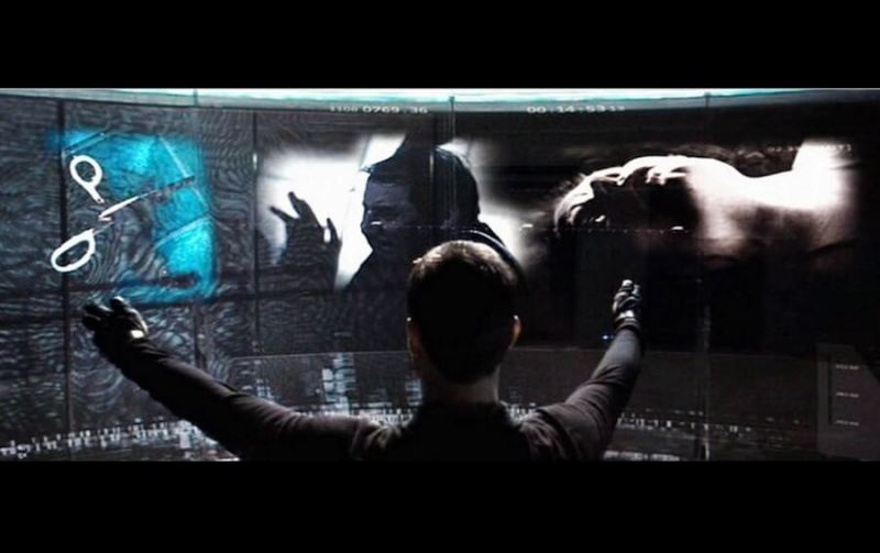 Tom Cruise in Minority Report uses John Underkoffler's computing interface.
