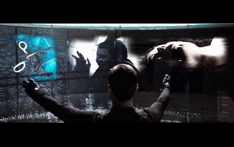Tom Cruise in Minority Report uses John Underkoffler's computing interface.
