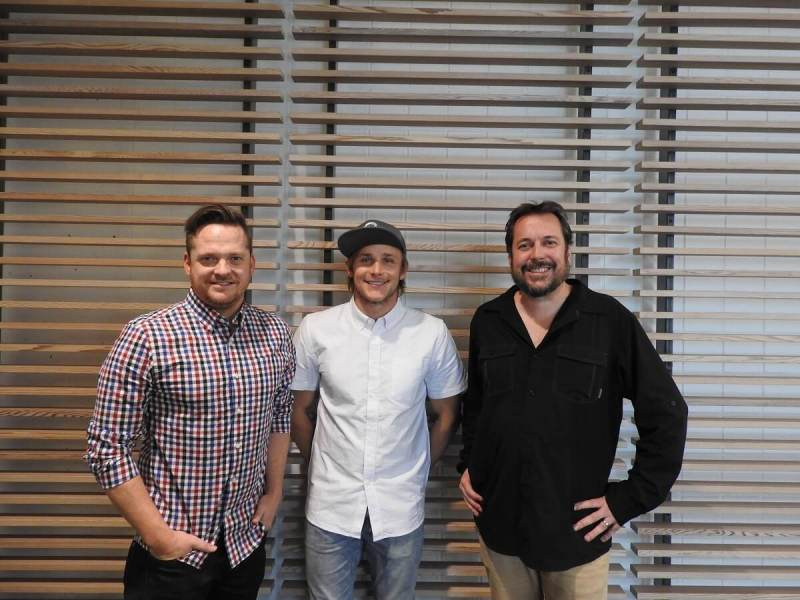 Matt Wilburn (left), Berkley Frei, and Chris Madsen of Morph 3D.