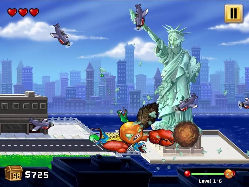 Taking down the Statue of Liberty in Octogeddon.