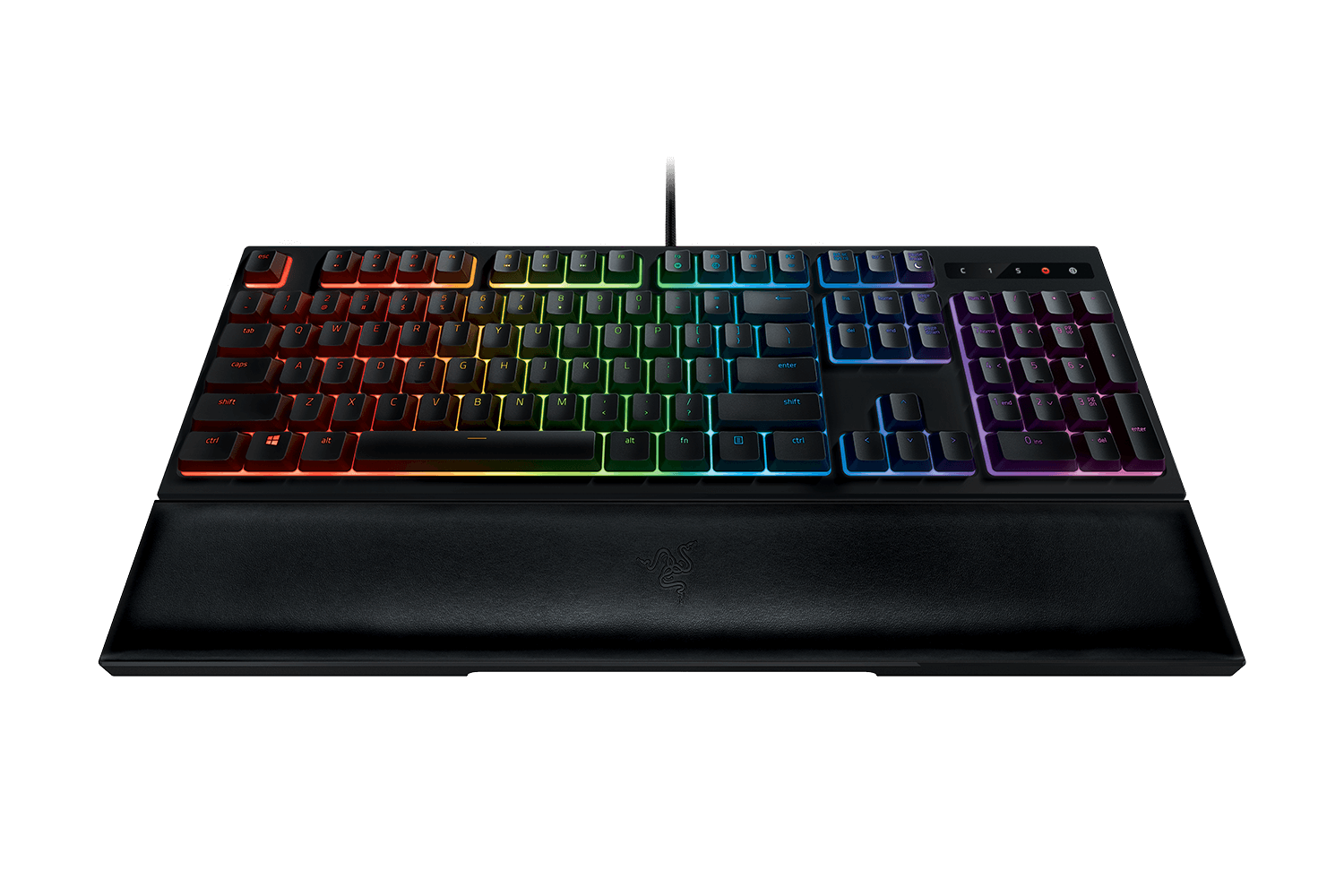 The clicky Razer Ornata Chroma keyboard.