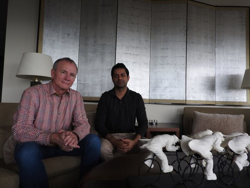 Rick Thompson (left) and Sunny Dhillon are bullish on VR.