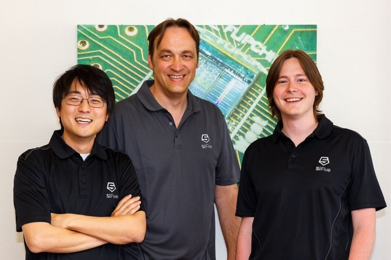 SiFive founders (left to right): Yunsup Lee, cofounder and CTO; Krste(cq) Asanovic, cofounder and chief architect; Andrew Waterman, cofounder and chief architect.