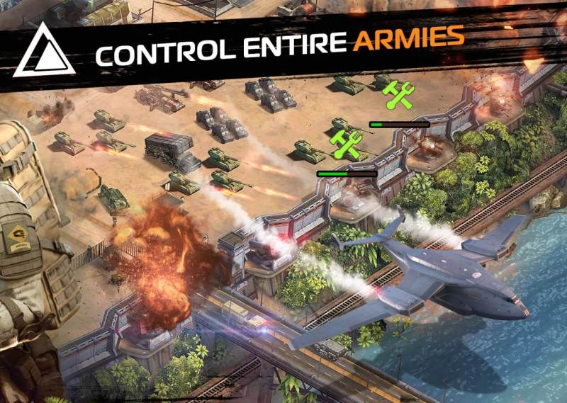 You can control big armies in Soldiers Inc.: Mobile Warfare