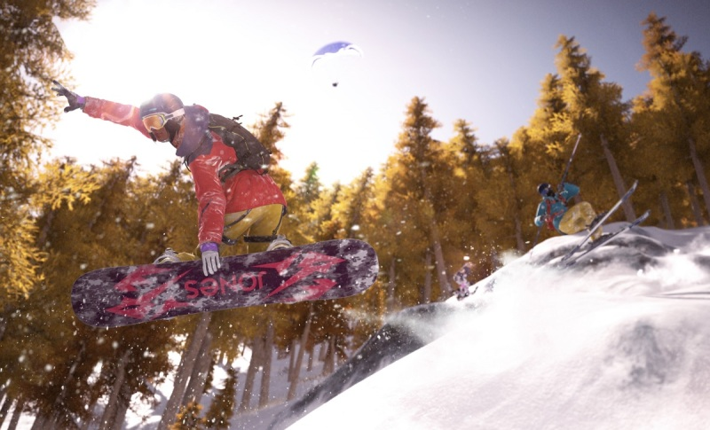 Snowboarding is one of the four sports in Steep.