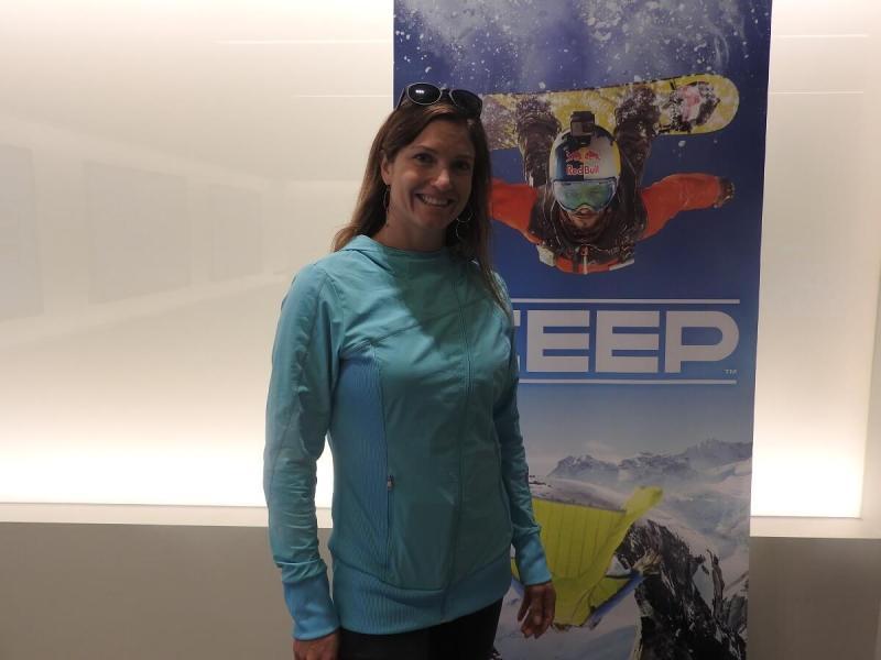 Julia Mancuso, Olympic gold medalist, took a turn at Ubisoft's Steep.