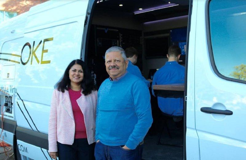 Voke cofounders Jay and Uma Jayaram.