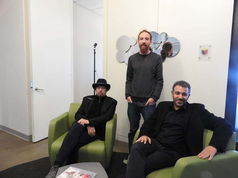 (Left) Jack Joseph Puig, Idan Egozy, and Tomer Elbaz of Waves Audio.