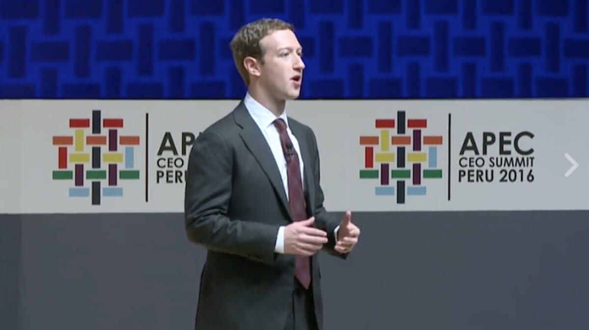 "Speaking at the Asia-Pacific Economic Cooperation CEO Summit on November 19, 2016, Facebook cofounder and CEO Mark Zuckerberg vowed , ""We also need to do our part to stop the spread of hate and violence and misinformation."""