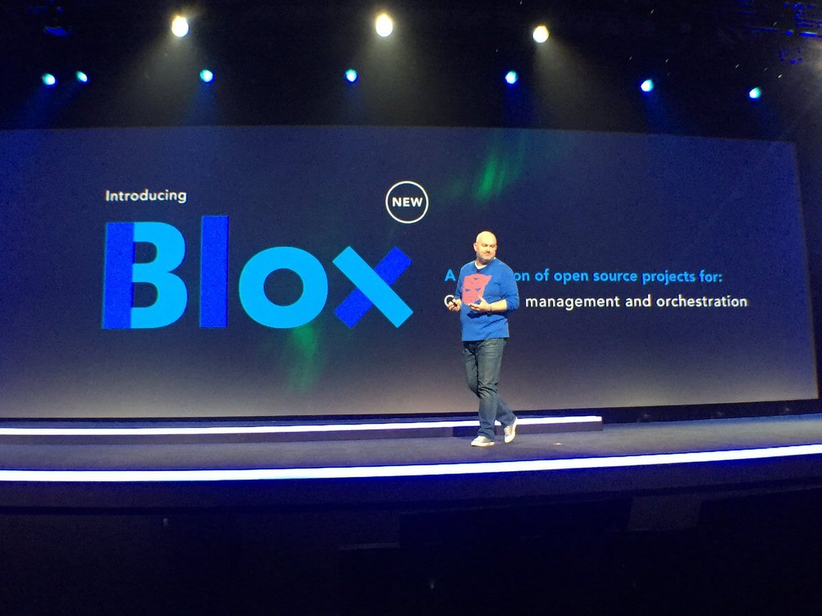 Amazon vice president and chief technology officer Werner Vogels talks about Blox at the AWS re:Invent conference in Las Vegas on December 1, 2016.
