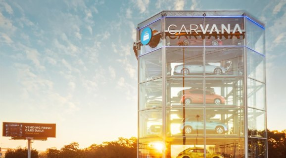 carvana launches its second coin op car vending machine an 8 story behemoth in houston. Black Bedroom Furniture Sets. Home Design Ideas