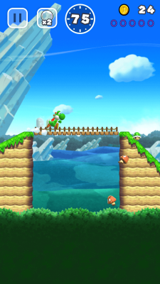 Yoshi can get in on the running too.