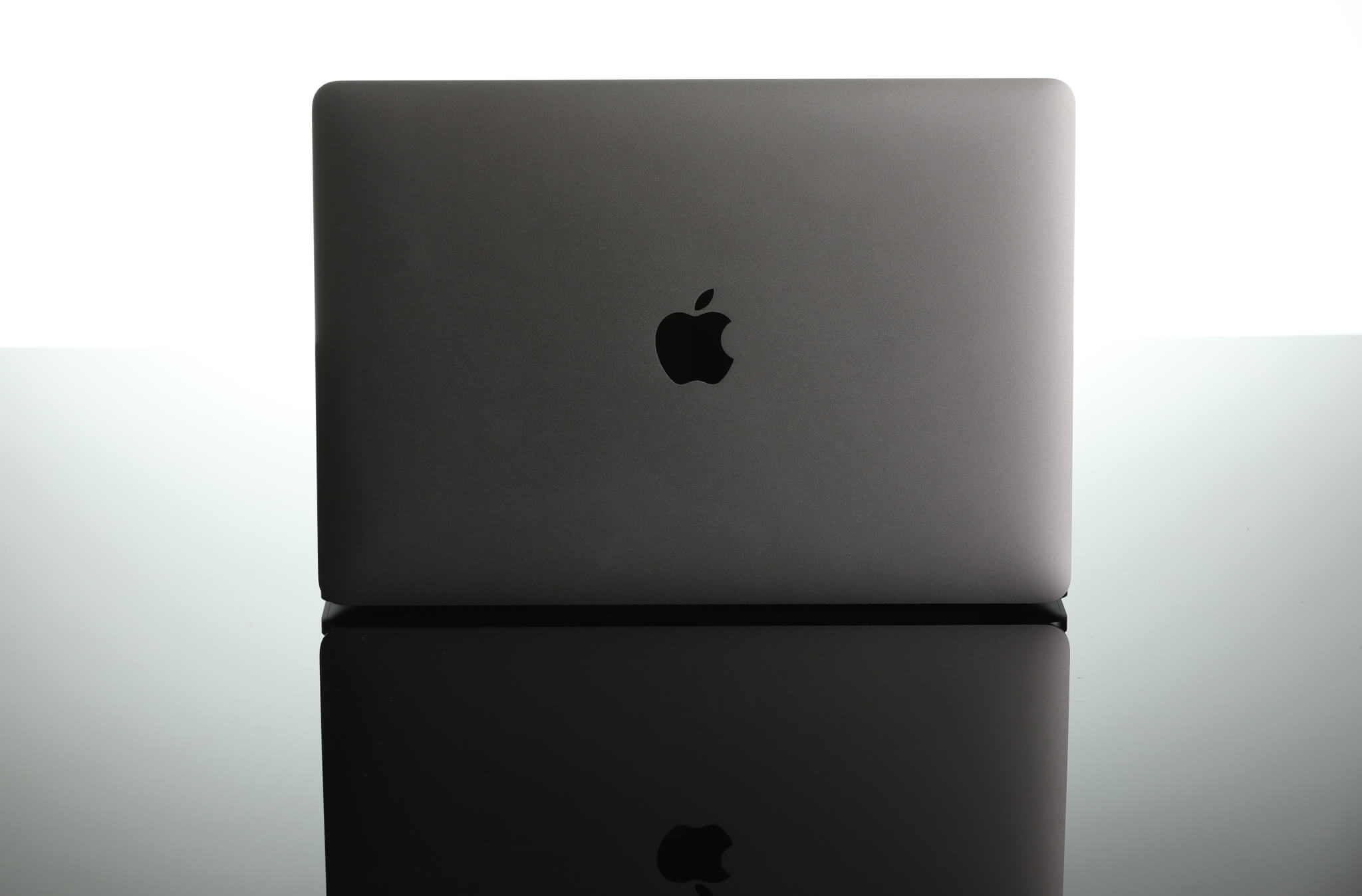 The back of the 2016 13-inch MacBook Pro in space gray.