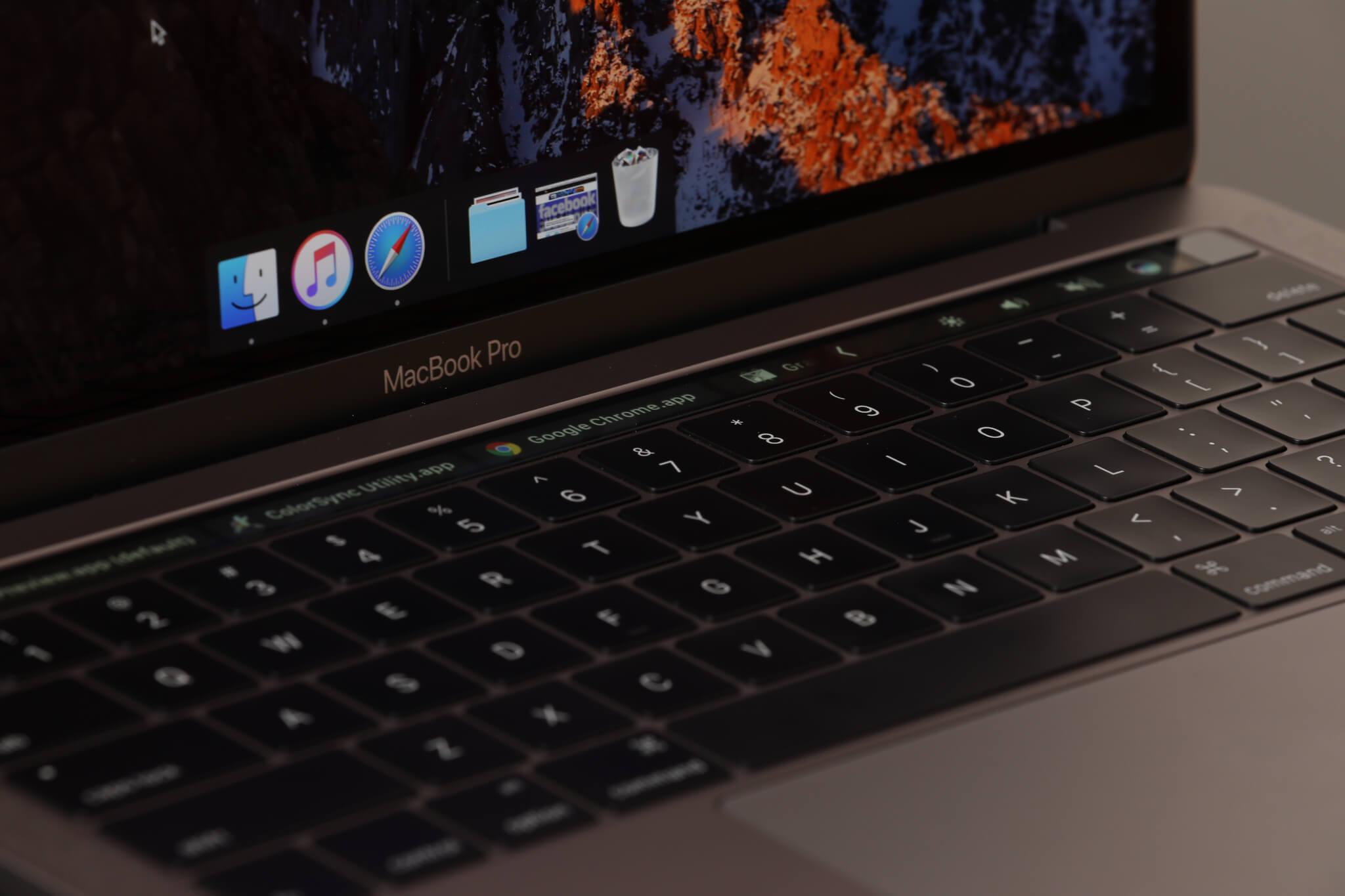 MacBook Pro Touch Bar.